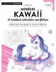 Modèles kawaii et créatures adorables aux feutres